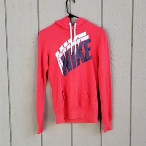 Brick Red Soft Nike Logo Pullover Hoodie